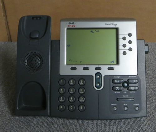Cisco 7961G CP-7961G VoIP IP Business Desktop Display Telephone Phone + Stand